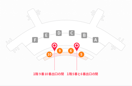 仁川空港第1旅客ターミナル(1階)