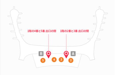 仁川空港第2旅客ターミナル(1階)